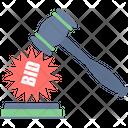 Bid Auction Gavel Icon