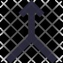 Bifurcation Road Sign Icon
