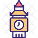Big Ben Clock Tower Landmark Icon