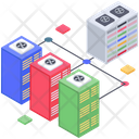Big Data Database Connection Data Server Hosting Icon