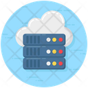 Big Data Dataserver Cloud Server Icon