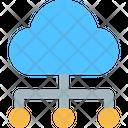 Big Data Cloud Data Cloud Computing Icon