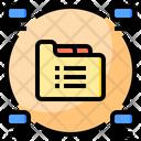 Big Data Online Blockchain Icon