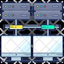 Data Share Big Data Server Room Icon