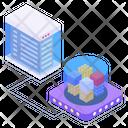 Data Distribution Big Data Database Distribution Icon