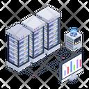 Data Display Big Data Server Display Icon