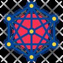 Big Data Server Network Icon