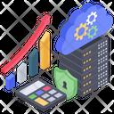 Big Data Analytics Database Analytics Databank Analytics Icon
