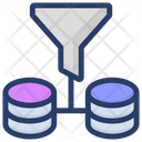 Data Filtering Data Filter Tunnel Big Data Filter Icon