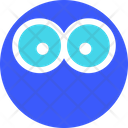 Big Eye Emoji Expression Icon