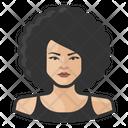 Big Hair Asian Asian Woman Big Icon