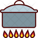 Big Pot on Fire Icon