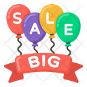 Sale Sign Big Sale Balloons Sale Banner Icon