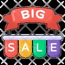 Big Sale Big Sale Banner Big Sale Ribbon Icon