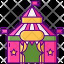 Big Top Amusement Carnival Tent Icon