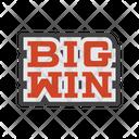 Big Win Sign Sign Board Icon