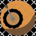 Motorcycling Cross Fit Bike Icon