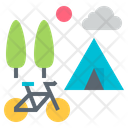 Bike Camping Icon