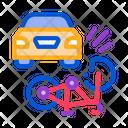 Bike Car Accident Icon