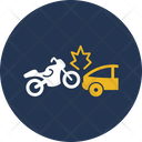 Bike Collision With Car Icon