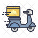 Bike Delivery Scooter Delivery Shipment Icon