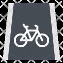Lane Bike Road Icon