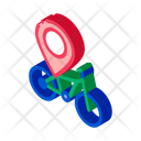Geolocation Bike Business Icon