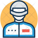 Bike Racer Motorcyclist Icon