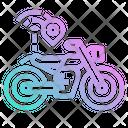 Motocycle Bike Tracking Icon