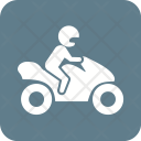 Biker Bike Vehicle Icon