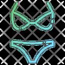 Bikini Woman Swimming Costume Clothes Icon