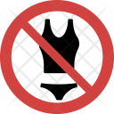Bikini not allowed Icon