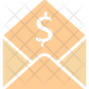 Bill Dollar Envelope Icon