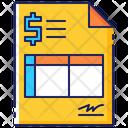 Bill Invoice Finance Icon
