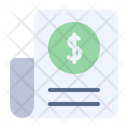 Bill Bill Stroke Payment Icon