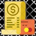 Bill Cash Receipt Transaction Icon