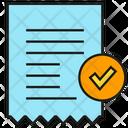 Bill Receipt Document Icon