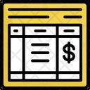 Bill Invoice Price Icon