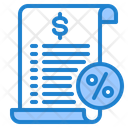 Bill Invoice Receipt Icon