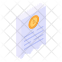 Receipt Bill Dollar Bill Icon