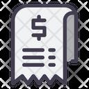 Bill Invoice Cost Icon