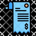 Bill Cash Receipt Icon