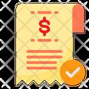 Bill Receipt Pay Icon