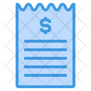 Bill Reciept Payment Icon