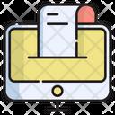 Online Invoice Online Bill Online Receipt Icon