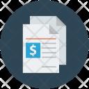 Bill Reciept Invoice Icon