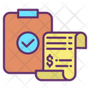 Bill Check Mark Invoice Clipboard Icon