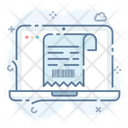 Bill Code Online Slip Online Invoice Icon