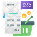 Bill Statement Bill Discounting Sale Discount Icon