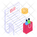 Shopping Bill Bill Discounting Shopping Invoice Icon